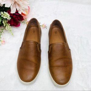 FRYE Brown Leather Ivy Slip On Sneaker Shoes Sz 8